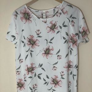 Vanilla Bay Flowers Large Woman Top Blouse